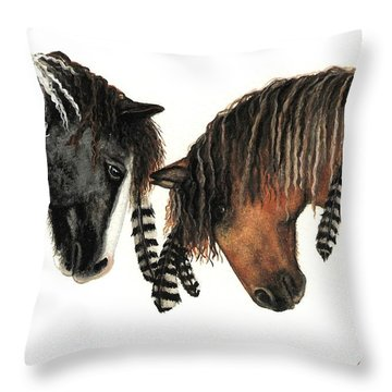 Mustang Series 37 Throw Pillow by AmyLyn Bihrle
