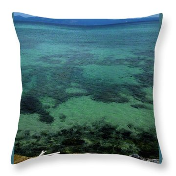 Nago Bay - Okinawa Throw Pillow by Jocelyn Kahawai
