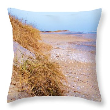 Throw Pillows Uncovered : Nags Head Sand Dune Photograph by Chuck Hicks