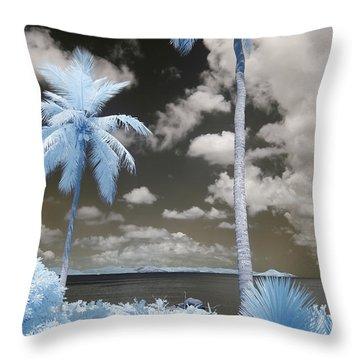 Nail Bay Infrared Throw Pillow