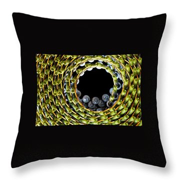 Nail Spin Throw Pillow