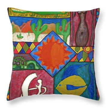 Naive #12 Throw Pillow