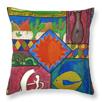 Naive #12 Throw Pillow