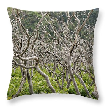 Naked Ladies Dancing Throw Pillow by Mary Carol Story