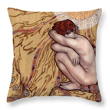 Naked Man In A Clothed World Throw Pillow