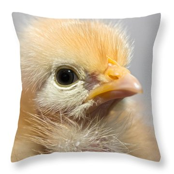 Naked Neck Chick Throw Pillow