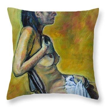Naked Tellervo 1 Throw Pillow