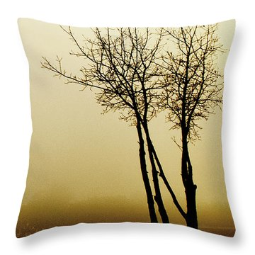 Throw Pillow featuring the photograph Naked Trees 1 by Artist and Photographer Laura Wrede