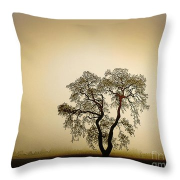 Naked Trees 4 Throw Pillow