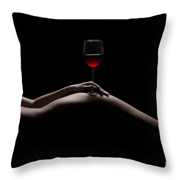 Naked Wine Throw Pillow
