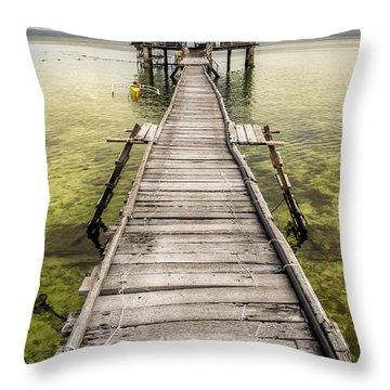 Nalusuan Island Pier Throw Pillow