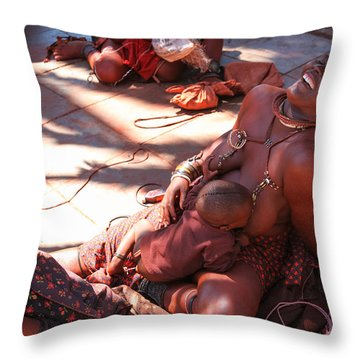 Nama Natives Throw Pillow