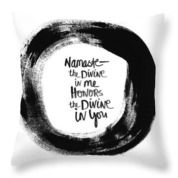 Namaste Enso Throw Pillow