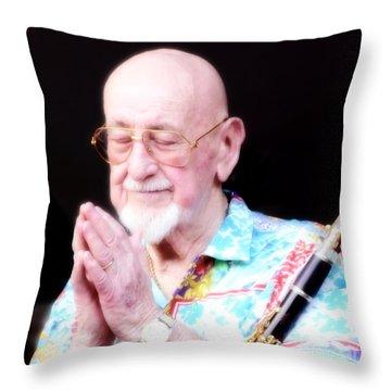 Namaste From Pete Fountain Throw Pillow