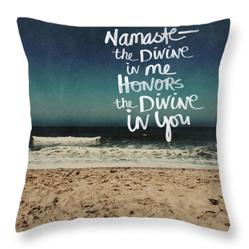 Namaste Waves  Throw Pillow