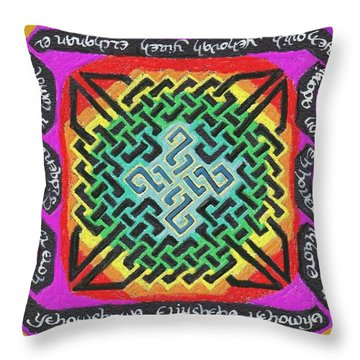 Names Of Yhwh Throw Pillow