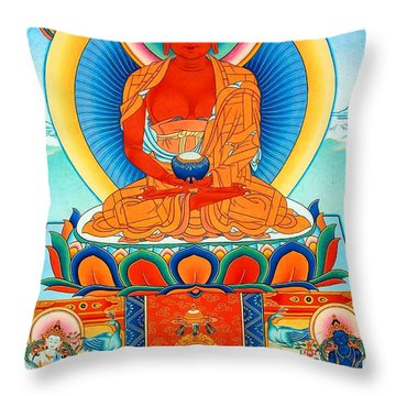 Namo Amitabha Buddha 35 Throw Pillow by Lanjee Chee