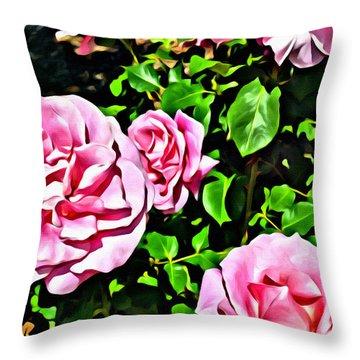 Nana's Roses Throw Pillow