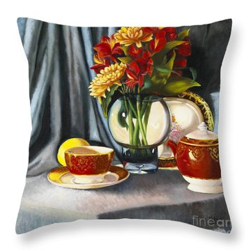 Throw Pillow featuring the painting The Legacy by Marlene Book