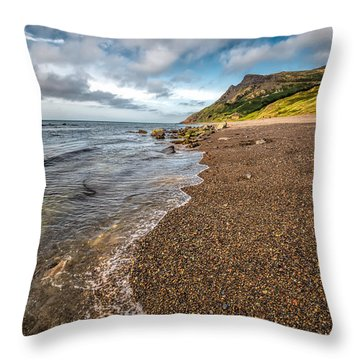 Nant Gwrtheyrn Shore Throw Pillow by Adrian Evans