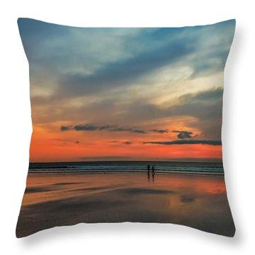 Nantasket Beach Sunrise Throw Pillow
