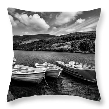 Nantlle Uchaf Boats Throw Pillow