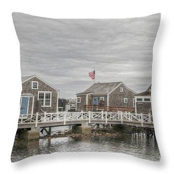 Nantucket Days Throw Pillow