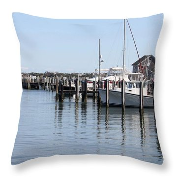 Nantucket Harbor Throw Pillow
