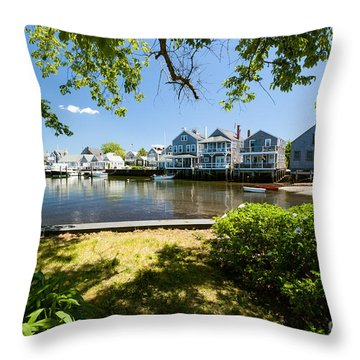 Nantucket Homes By The Sea Throw Pillow