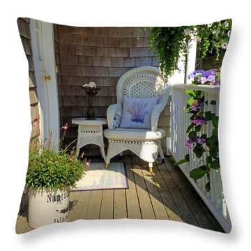 Nantucket Porch Throw Pillow