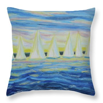 Nantucket Sunrise Throw Pillow