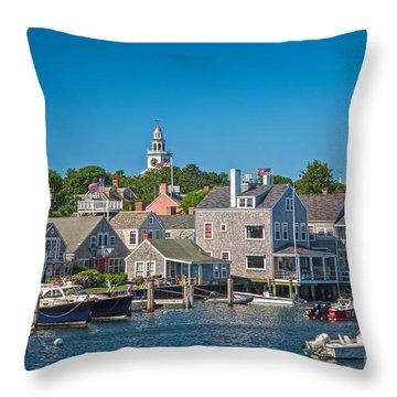 Nantucket Town Throw Pillow