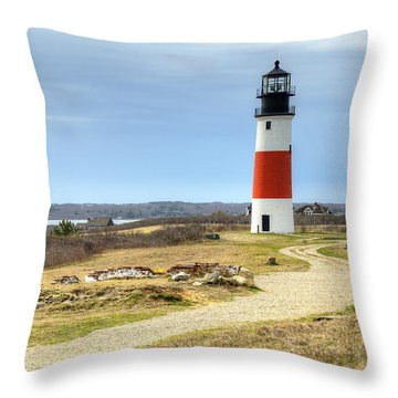 Nantucket's Sankaty Head Light Throw Pillow