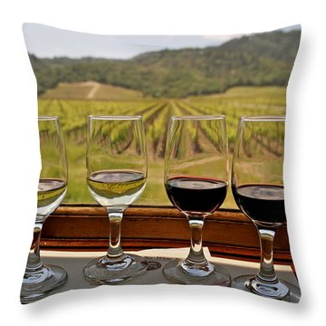 Napa Valley Wine Train Delights Throw Pillow by Michele Myers