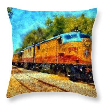Napa Valley Wine Train Throw Pillow by Kaylee Mason