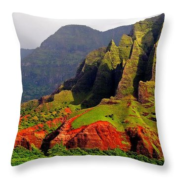 Napali Coast II Throw Pillow