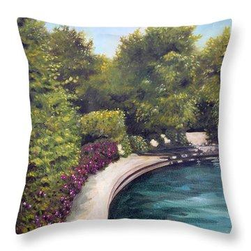 Naperville Riverwalk II Throw Pillow