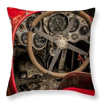 Napier Bentley Cockpit  Throw Pillow