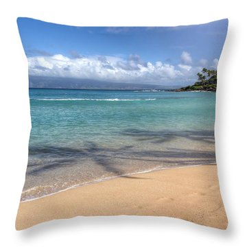 Napili Bay Maui Throw Pillow