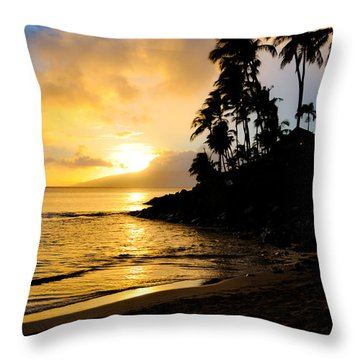 Napili Sunset Evening  Throw Pillow