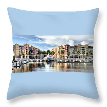 Naples Bayfront Throw Pillow