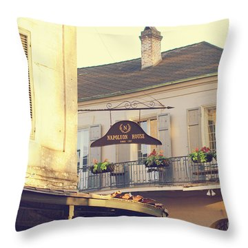 Throw Pillow featuring the photograph Napoleon Corner by Heather Green