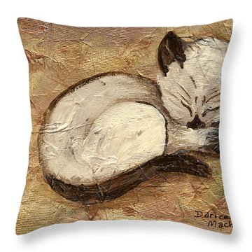 Napping Kitty Throw Pillow