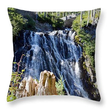 Narada Falls Throw Pillow by Anthony Baatz