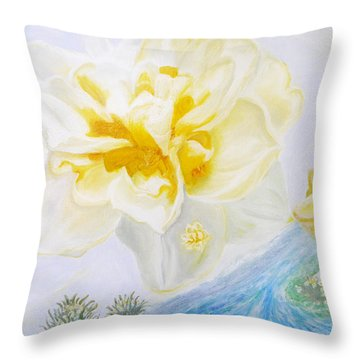 Narcissus Throw Pillow by Augusta Stylianou
