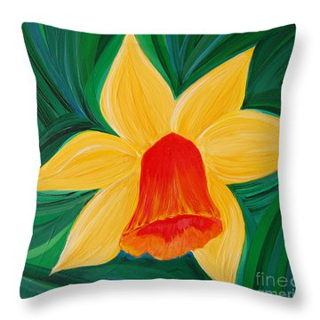 Narcissus Diva By Jrr Throw Pillow by First Star Art