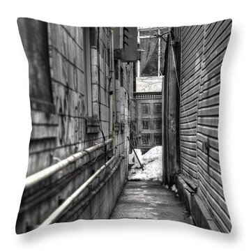 Narrow Alley Throw Pillow by Nicky Jameson