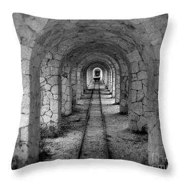 Arched Narrow Gauge Throw Pillow