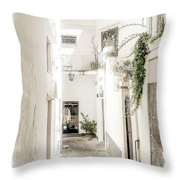 Narrow Walkway Of Capri Throw Pillow