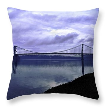Narrows Bridge Throw Pillow by Anthony Baatz
